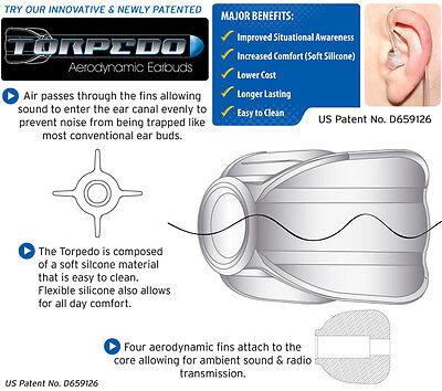 Tactical Earphone - Tactical Ear Gadgets™ Situational Awareness Torpedo Earbud for Radio Earpiece