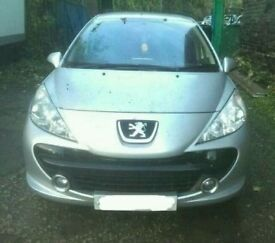 2006 PEUGEOT 207 1.6 HDI IN SILVER BREAKING FOR PARTS