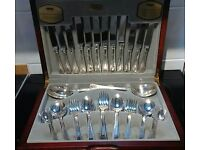 Silver plated cutlery set by viners