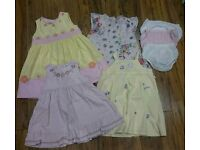 Bundle of baby girls dresses 12-18 months