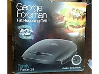 George Foreman family 5 portion grill