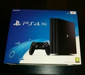 Sony Playstation 4 Pro 1TB console brand new sealed, available more then one