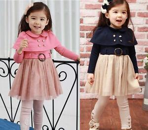 Girl-Kids-Baby-Dresses-Tutu-Skirt-Long-Sleeve-Clothing-1-PCS-Costume-1-7Y-Lovely