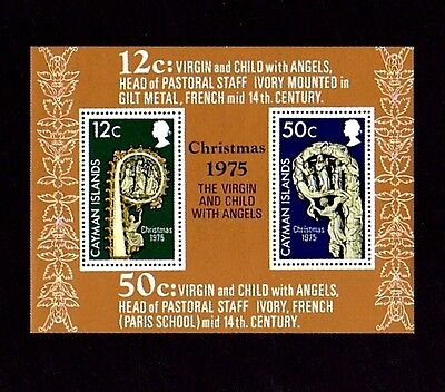 CAYMAN IS - 1975 - CHRISTMAS - VIRGIN & CHILD - 14th CENTURY - MINT MNH S/SHEET!