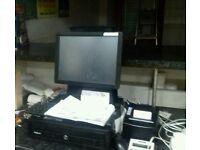 Cash register till and printer