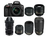 TOP QUALITY DSLR CAMERAS AND LENSES WANTED