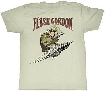 Flash Gordon Flash & Rocket Adult T Shirt Classic Movie - Adult Movies Cheap