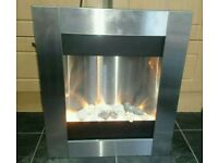 Electric fire flame effect with heater