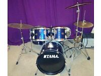Tama 5-Piece Compact Drum Kit with Paiste Cymbals -Blue