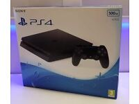 **BRAND NEW - SONY PLAYSTATION 4 - PS4 SLIM - 500GB JET BLACK COMPUTER VIDEO GAMES CONSOLE**