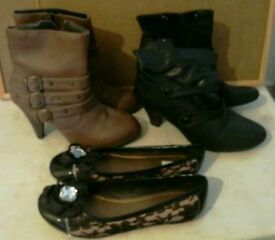 Boots x 2 pairs + pair shoes (all size 6)