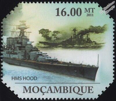 WWII HMS HOOD (51) Battlecruiser Battleship Warship Stamp (2011 -