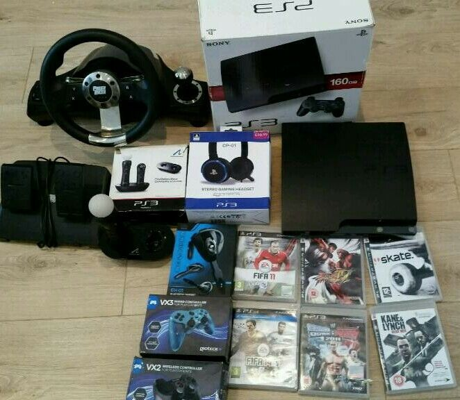 PS3 complete console with games and extras