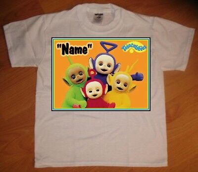 Teletubbies Personalized Birthday Party Favor Gift T-Shirt - NEW Birthday Party Favor T-shirt