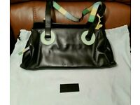 Small Radley handbag. Black leather