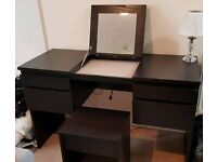 IKEA Dressing Table with Mirror and Stool