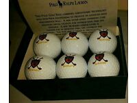 6 Polo Ralph Lauren Golf Balls