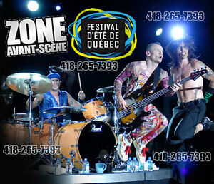 RED HOT CHILI PEPPERS PASSE ZONE AVANT SCENE FESTIVAL ETE QUEBEC