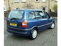 VAUXHALL ZAFIRA 1.6 7SEATER 2 OWENRS LONG MOT DRIVES SWEET SERVICE HISTORY NEW TYRES HPI CLEAR