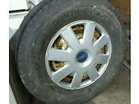 Ford Transit spare wheel with good condition tyre