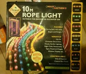 10m red rope light new in box