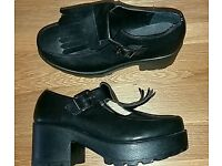 Brand new black funky chunky shoes