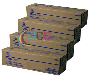 Oem Konica Minolta Lot Of 4 Tn217 Toner Cartridges For Bizhub 223 Bizhub 283