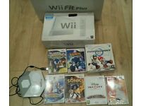 Nintendo Wii complete console with games and wii fit board