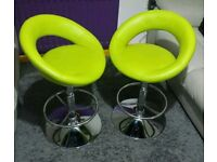 Pair of Bar stools with Gas lifting and Swivel excellent condition