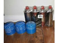 Camping gaz & Mega 4 cans and 3 cannisters