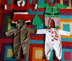 Baby Christmas bodysuits bundle size 3-6 months