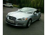 Chauffer driven jaguar xf wedding prom executive travel from £50