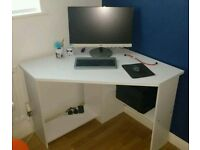 Bray Corner Home Office Desk - Color: White Finish