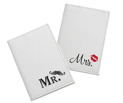 Honeymoon Gifts Pair of Mustache/Lip  Mr. and Mrs. Passport Covers ](Mustache Gifts)