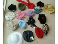 Rare vintage 1950-70s ladies hats 16 in total