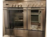 CDA DUAL FUEL DOUBLE OVEN COOKING RANGE FREE DELIVERY AND WARRANTY