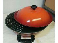 Lidded Wok in burnt orange
