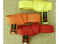Martial arts muay thai grading belts