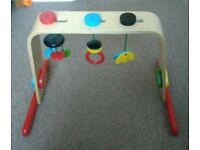 Wooden IKEA play gym / arch baby changing toy