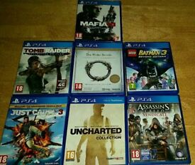 Job lot of 7 PS4 games for sale