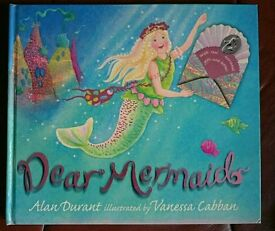 Mermaid story book with mermaid gifts and letters - Excellent condition