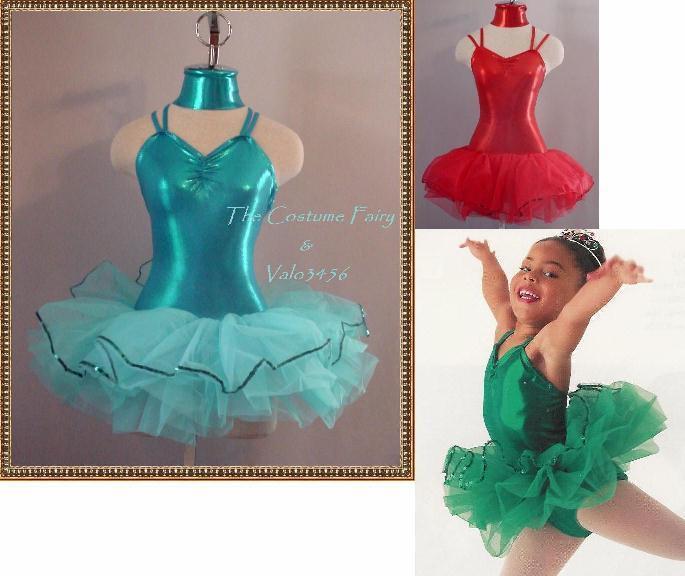 Metallic Tutu Dance Ballet Costume Child XS & Child Large Clearance