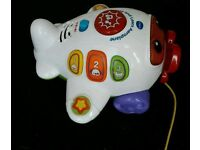 Vtech Play And Learn Aeroplane Pull Along Toy