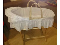 Fantastic condition 2 x Clair de lune Moses baskets with stands