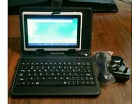 """7"""" chimp android tablet keyboard leather case 4.2.2 4gb wifi"""