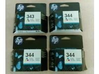 HP 343 and 344 ink cartridges