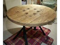 Cable reel dining table