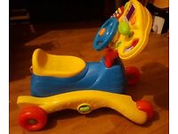 Vtech Grow and go ride on, car, rocking seat