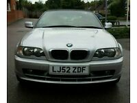 Car for sale 2002 BMW E46 318 CONVERTIBLE SILVER BLACK