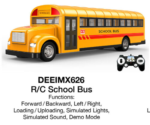 Imex / Double Eagle Radio Control School Bus W/Opening Doors E626-003 MIB/New